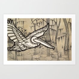 Bayou Airways Art Print