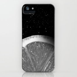 Waning Gibbous Lemon Moon iPhone Case