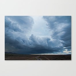 Passing storm, Ross River dam, Townsville. Canvas Print
