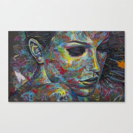 Graffiti Portrait Canvas Print