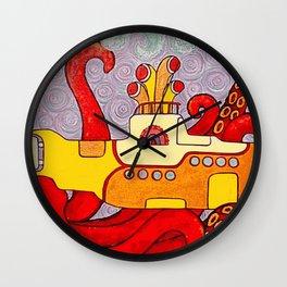 Yellow Subliminal Wall Clock