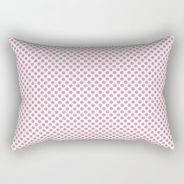 Orchid Smoke Polka Dots Rectangular Pillow