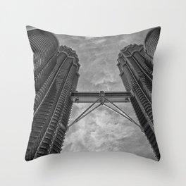 Petronas Towers in Kuala Lumpur, Malaysia Throw Pillow