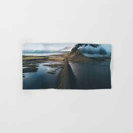 Mountain road in Iceland - Landscape Photography Hand & Bath Towel