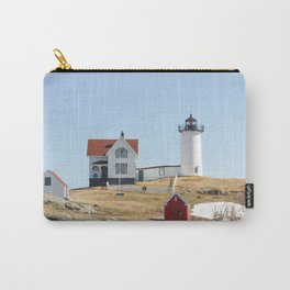 Nubble Light House At Christmas Carry-All Pouch