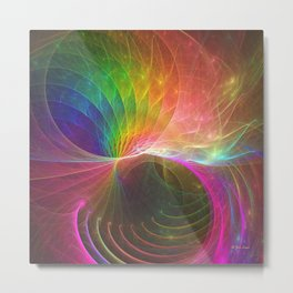 Mobius Bubble Curl Metal Print