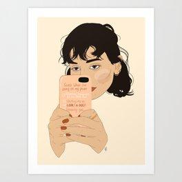 Ignoring you... Art Print