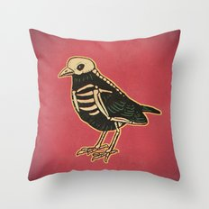 Dead Bird Throw Pillow