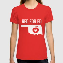 Red for Ed Oklahoma T-shirt