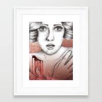 sleeping beauty Framed Art Prints featuring Sleeping Beauty by Kayleigh Day