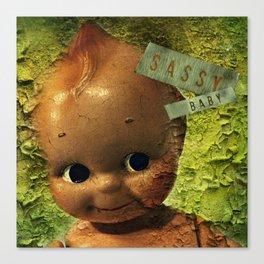 Sassy Baby Decay Canvas Print