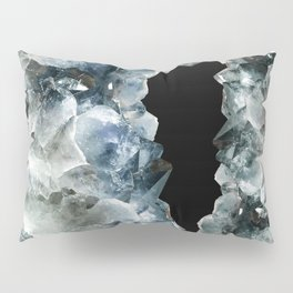 Blue Crystal Photography | Earthy | Precious Stone Pillow Sham