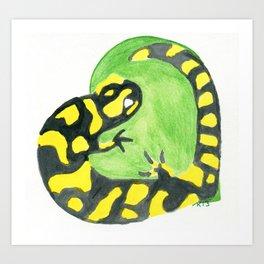 Salamander Heart Art Print
