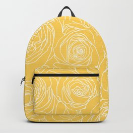 Sunshine Yellow Roses Drawing Backpack