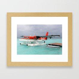 Arriving at Meedhuppau by Sea Plane Framed Art Print