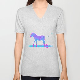 Zebra Rock It 9A Unisex V-Neck