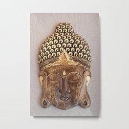 Wooden Buddha Metal Print