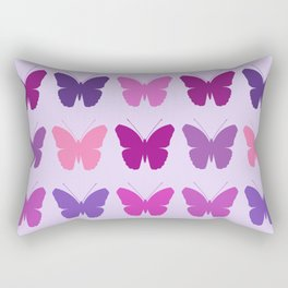 Butterly Silhouettes 3x3 Pinks Purples Mauves Rectangular Pillow
