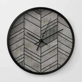 Concrete abstract chevron pattern Wall Clock
