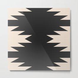 Minimal Southwestern - Charcoal Metal Print