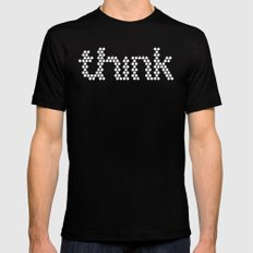 think dots Black MEDIUM Mens Fitted Tee