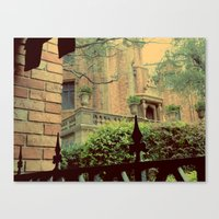 haunted mansion Canvas Prints featuring Haunted Mansion by Lea Bostwick