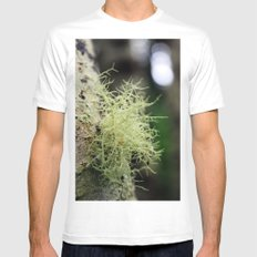Filaments White MEDIUM Mens Fitted Tee