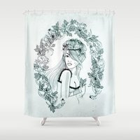 olivia joy Shower Curtains featuring Olivia by Quill