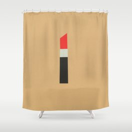 LAPIZ DE LABIOS Shower Curtain
