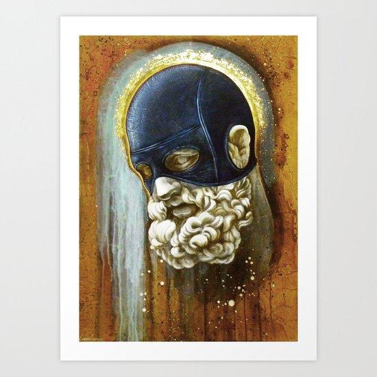 """""""Masked Hercules"""" Art Print"""