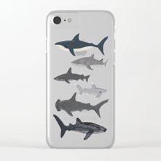 Sharks nature animal illustration texture print marine biologist sea life ocean Andrea Lauren Clear iPhone Case