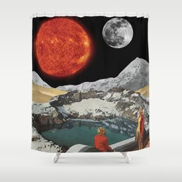 Cosmic Panorama Shower Curtain