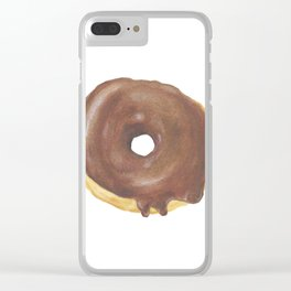 Chocolate Iced Doughnut Clear iPhone Case