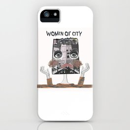 Women of city White iPhone Case