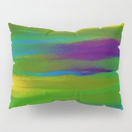 Green Mardi Gras Abstract Pillow Sham