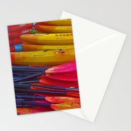 Kayaks and Canoes at the Rowing Club Stationery Cards