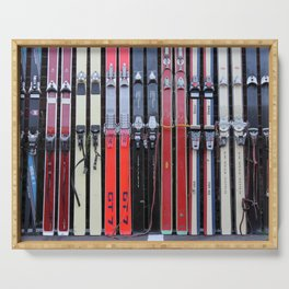 Skis with Bindings Serving Tray