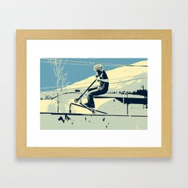 Getting Some Serious Air - Scooter Boy Framed Art Print