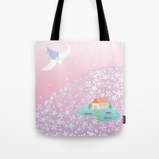 flower hill Tote Bag