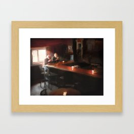 This one is on me. Framed Art Print