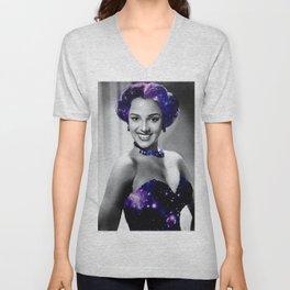 Dorothy Dandridge Purple Galaxy Unisex V-Neck