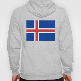 Flag of Iceland - High Quality Image Hoody