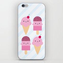 Summer Ice Cream Treats iPhone Skin