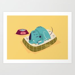 :::Sleeping pet dog::: Art Print