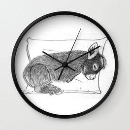 Baby donkey sleeping Wall Clock