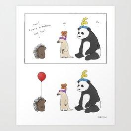Everybody Deserves a Balloon Hat  Art Print