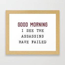 The Assassins Failed Framed Art Print