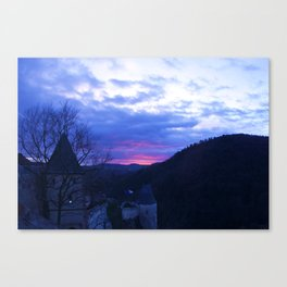 Sunset over the Castle Canvas Print