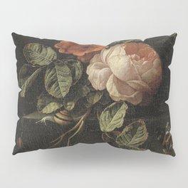 Elias van den Broeck - Still life with roses - 1670-1708 Pillow Sham