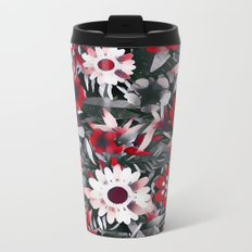 Red Garden Metal Travel Mug